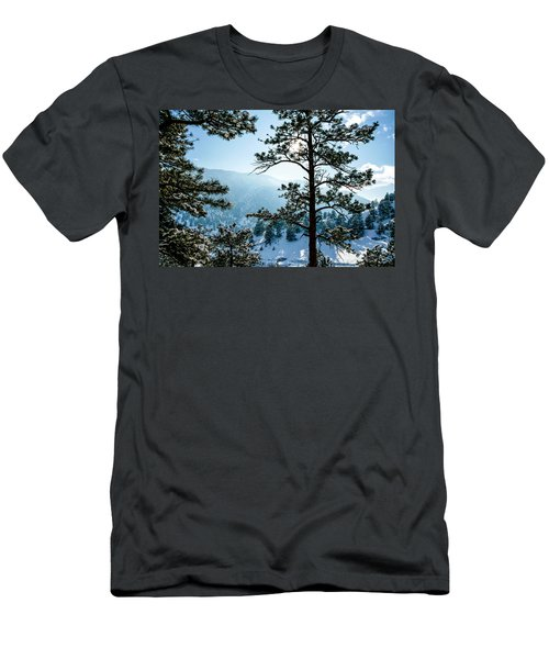 Snow-covered Trees Men's T-Shirt (Athletic Fit)