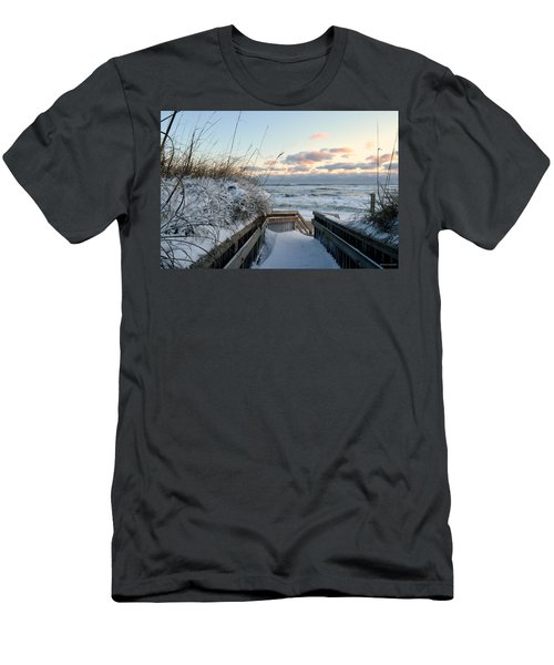 Snow Day At The Beach Men's T-Shirt (Athletic Fit)