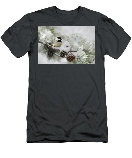 Men's T-Shirt (Slim Fit) featuring the photograph Snow Day by Lori Deiter