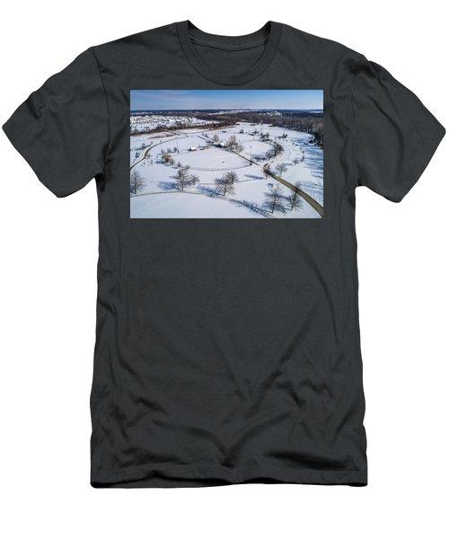 Snow Diamonds Men's T-Shirt (Athletic Fit)
