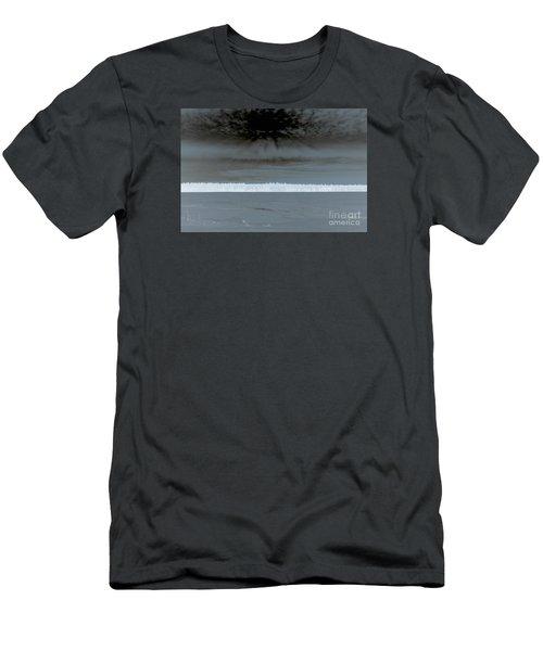 Snow Fences Men's T-Shirt (Slim Fit) by Elaine Hunter