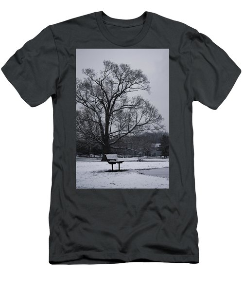 Men's T-Shirt (Slim Fit) featuring the photograph Snow In East Brunswick by Vadim Levin