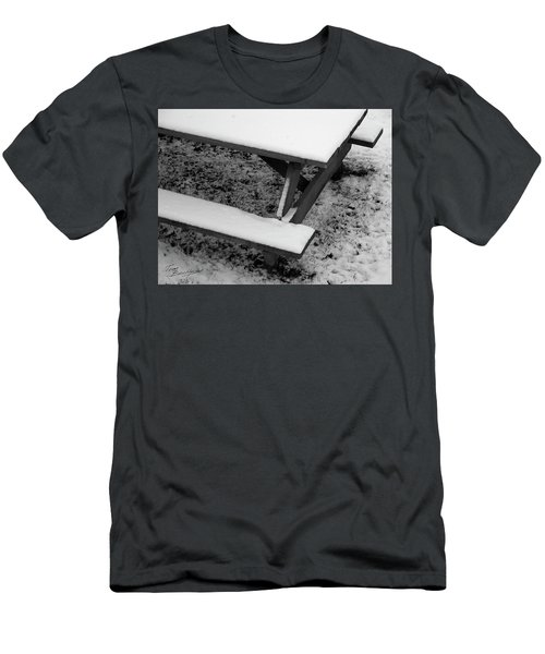 Snow On Picnic Table Men's T-Shirt (Athletic Fit)