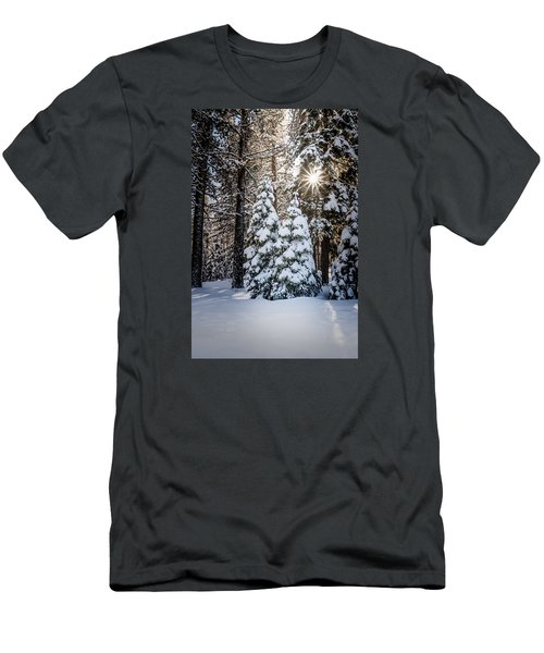 Men's T-Shirt (Slim Fit) featuring the photograph Snow On Spooner Summit by Janis Knight