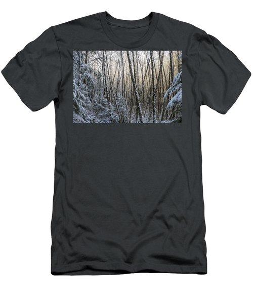 Snow On The Alders Men's T-Shirt (Athletic Fit)