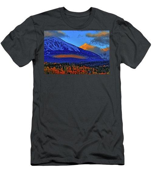 Men's T-Shirt (Slim Fit) featuring the photograph Snow Peak Fall by Scott Mahon