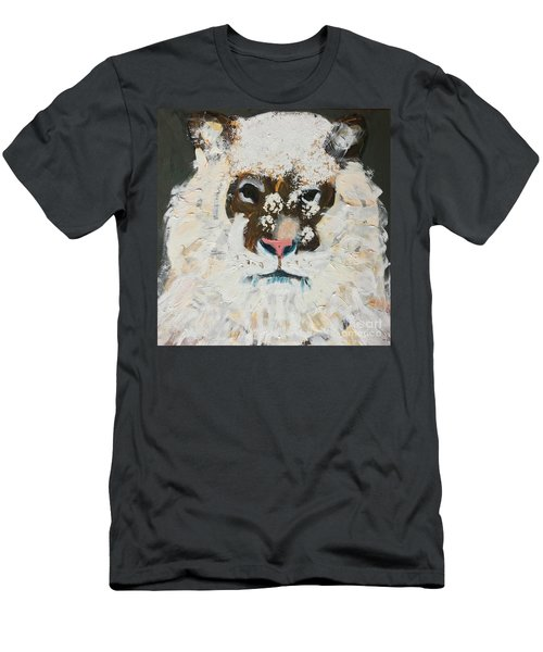 Men's T-Shirt (Athletic Fit) featuring the painting Snow Tiger by Donald J Ryker III