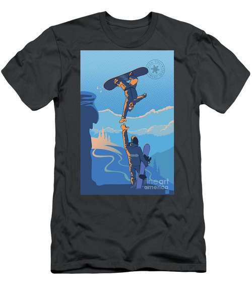 Snowboard High Five Men's T-Shirt (Athletic Fit)