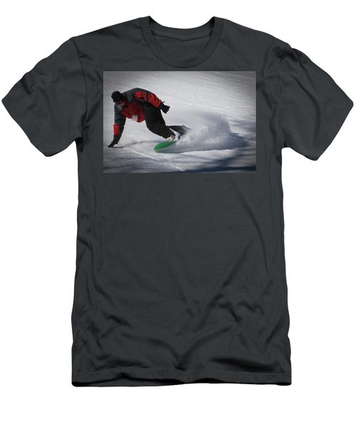 Men's T-Shirt (Slim Fit) featuring the photograph Snowboarder On Mccauley by David Patterson