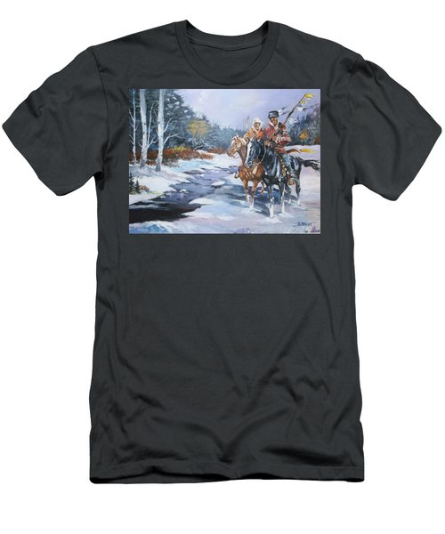 Snowbound Hunters Men's T-Shirt (Slim Fit) by Al Brown