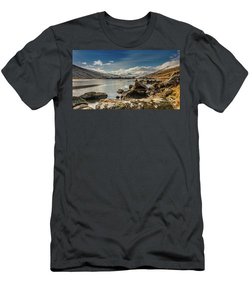 Men's T-Shirt (Slim Fit) featuring the photograph Snowdon From Llynnau Mymbyr by Adrian Evans
