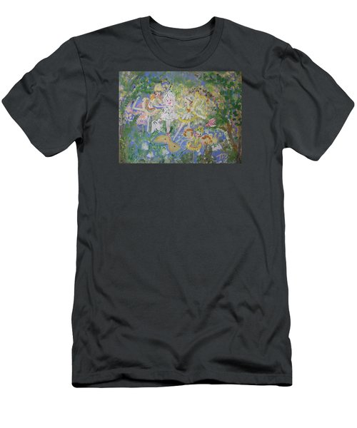 Snowdrop The Fairy And Friends Men's T-Shirt (Slim Fit) by Judith Desrosiers