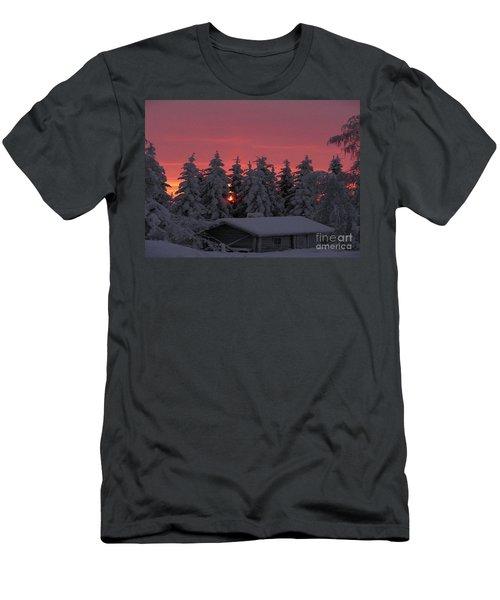 Snowed In Men's T-Shirt (Slim Fit) by Rod Jellison