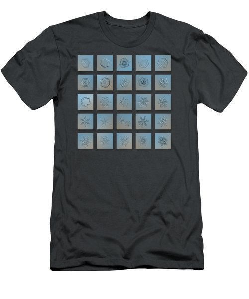 Snowflake Collage - Season 2013 Bright Crystals Men's T-Shirt (Athletic Fit)
