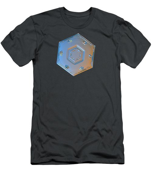 Men's T-Shirt (Slim Fit) featuring the photograph Snowflake Photo - Cryogenia Alternate by Alexey Kljatov