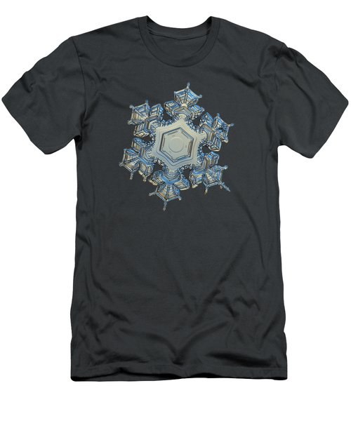 Men's T-Shirt (Slim Fit) featuring the photograph Snowflake Photo - Iron Crown by Alexey Kljatov