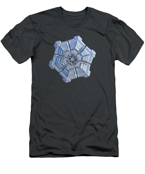 Men's T-Shirt (Slim Fit) featuring the photograph Snowflake Photo - Winter Fortress by Alexey Kljatov