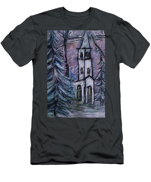 Snowscape Men's T-Shirt (Athletic Fit)