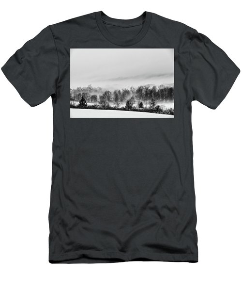 Snowscape Men's T-Shirt (Slim Fit) by Nicki McManus
