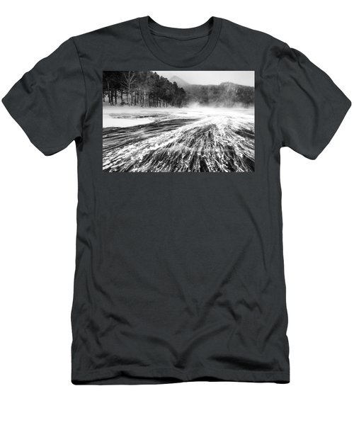 Snowstorm Men's T-Shirt (Slim Fit) by Hayato Matsumoto