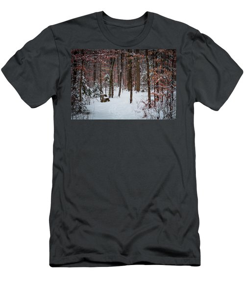 Snowy Bench Men's T-Shirt (Athletic Fit)