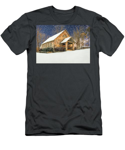 Snowy Cloudland Presbyterian Church  Men's T-Shirt (Athletic Fit)