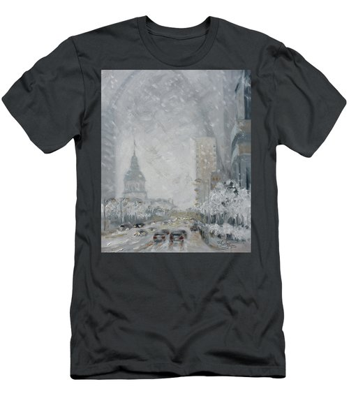 Snowy Day - Market Street Saint Louis Men's T-Shirt (Athletic Fit)