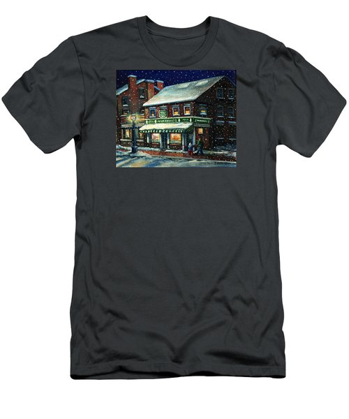 Snowy Evening In Gloucester, Ma Men's T-Shirt (Athletic Fit)