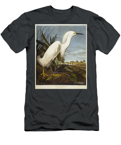 Snowy Heron Men's T-Shirt (Athletic Fit)