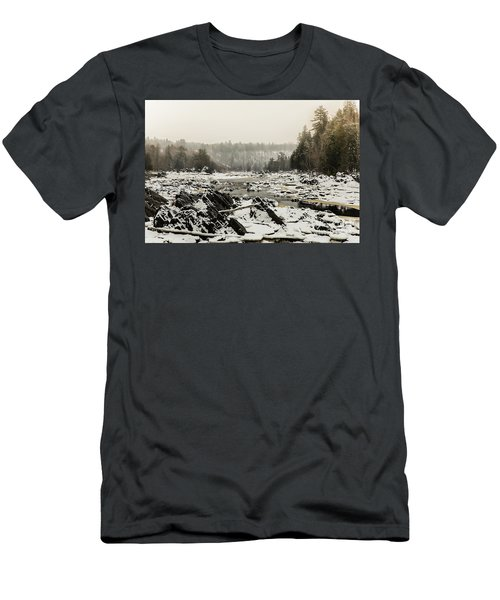 Snowy Morning At Jay Cooke Men's T-Shirt (Athletic Fit)