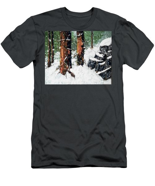 Snowy Redwood Dream Men's T-Shirt (Athletic Fit)