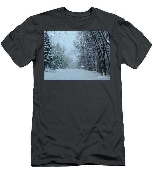 Snowy Street Men's T-Shirt (Athletic Fit)