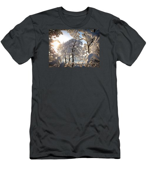 Men's T-Shirt (Slim Fit) featuring the photograph Snowy Trees by RKAB Works
