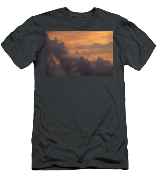 Men's T-Shirt (Slim Fit) featuring the photograph Soaring Into The Sunset by Richard Bryce and Family