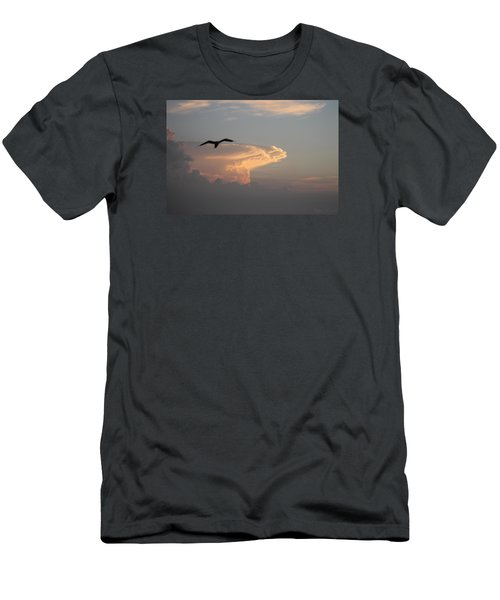 Men's T-Shirt (Slim Fit) featuring the photograph Soaring Over The Clouds by Robert Banach
