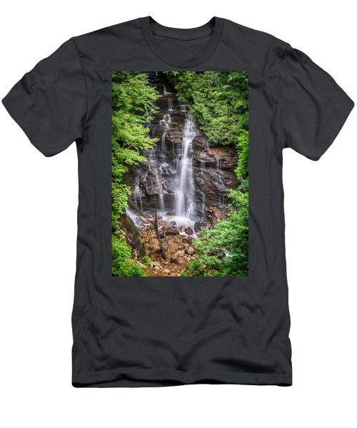 Men's T-Shirt (Slim Fit) featuring the photograph Socco Falls by Stephen Stookey