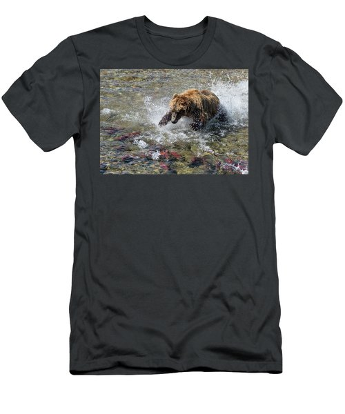 Sockeye In Sight  Men's T-Shirt (Athletic Fit)