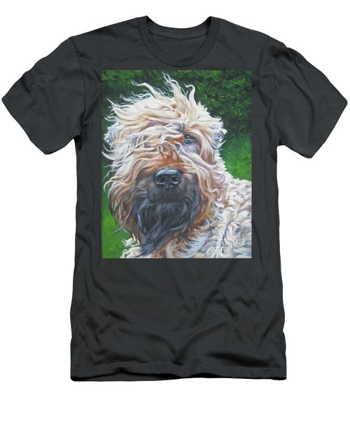 Soft Coated Wheaten Terrier Men's T-Shirt (Slim Fit) by Lee Ann Shepard