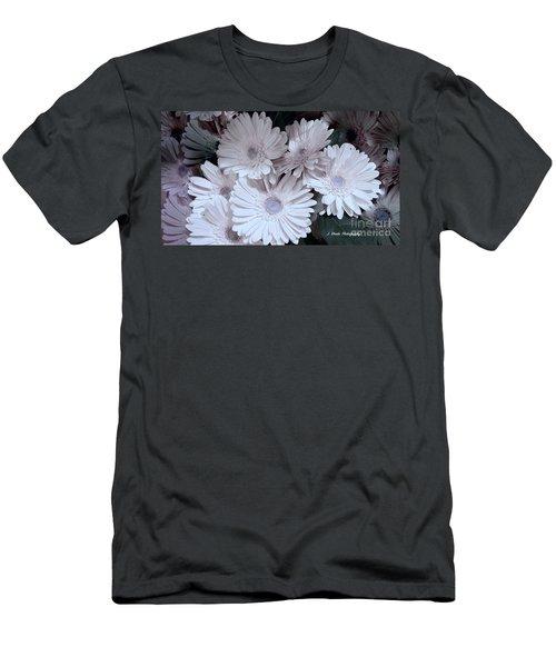 Soft Pink Daisy Bouquet Men's T-Shirt (Slim Fit) by Jeannie Rhode