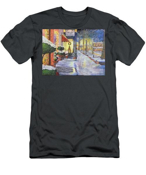 Soft Snowfall In Dahlonega Georgia An Old Fashioned Christmas Men's T-Shirt (Athletic Fit)