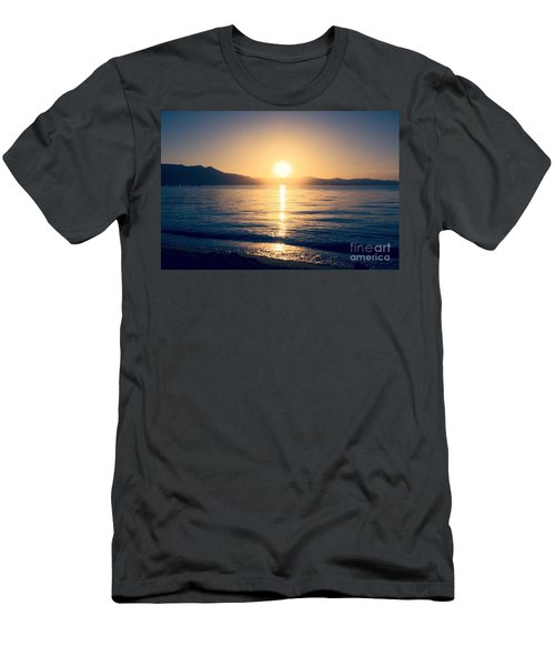 Soft Sunset Lake Men's T-Shirt (Athletic Fit)