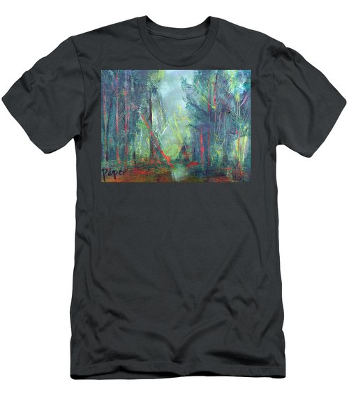 Softlit Forest Men's T-Shirt (Slim Fit) by Betty Pieper