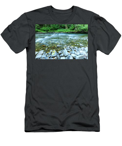 Sol Duc River In Summer Men's T-Shirt (Athletic Fit)