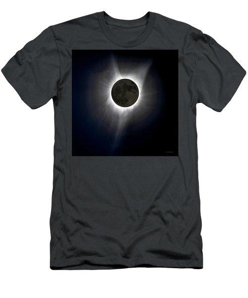 Solar Eclipse Corona Men's T-Shirt (Athletic Fit)