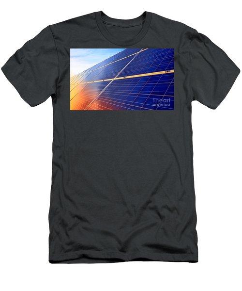 Solar Panels Sunset Men's T-Shirt (Athletic Fit)