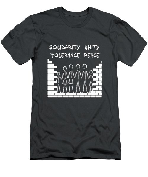 Solidarity Unity Tolerance Peace Men's T-Shirt (Athletic Fit)