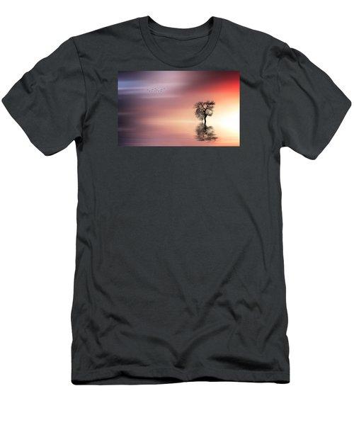 Solitude Men's T-Shirt (Slim Fit) by Bess Hamiti
