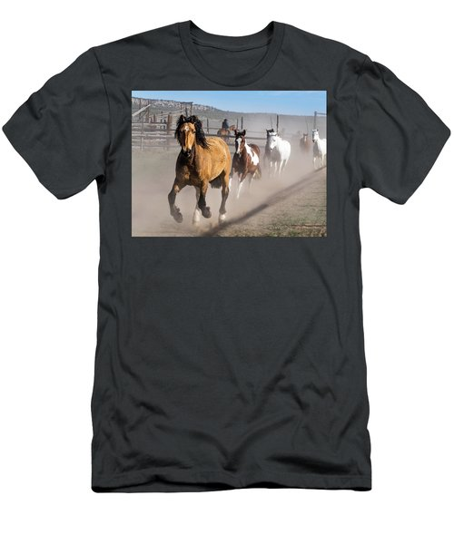Sombrero Ranch Horse Drive At The Corrals Men's T-Shirt (Athletic Fit)
