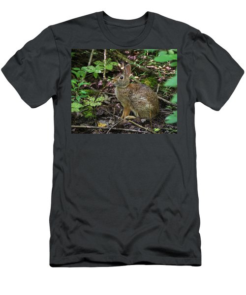 Men's T-Shirt (Athletic Fit) featuring the photograph Some Bunny Stopped By by Bill Pevlor