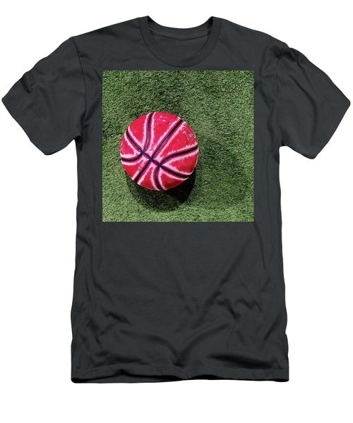 Something About This Bball Catches My Men's T-Shirt (Athletic Fit)